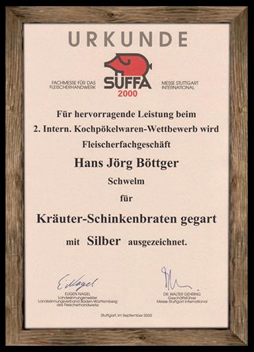 urkunde-suffa-2000-kraeuter-schinkenbraten-gegart