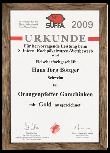 urkunde-suffa-2009-orangenpfeffer-garschinken
